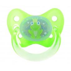 Dudlík Dentistar silikonový s kroužkem vel.1