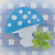 Modrá houbička