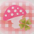 Růžová houbička